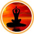 Frau beim Yoga